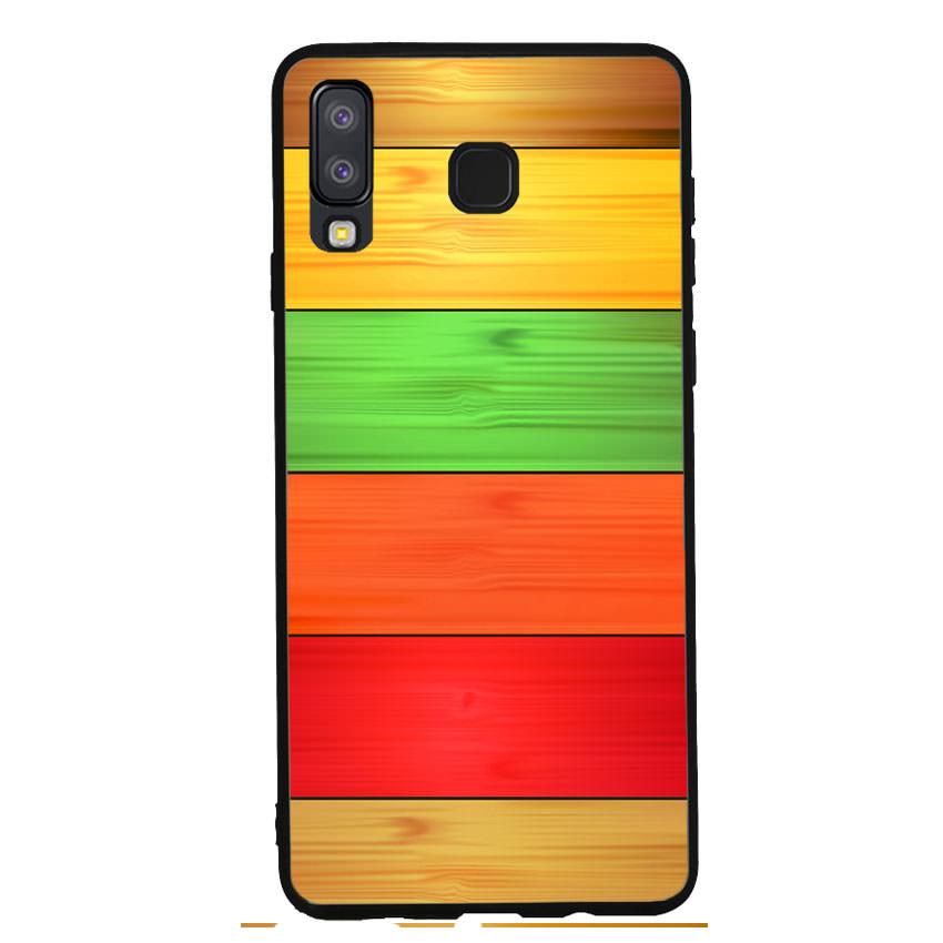 Ốp lưng nhựa cứng viền dẻo TPU cho điện thoại Samsung Galaxy A8 Star - Sắc Màu