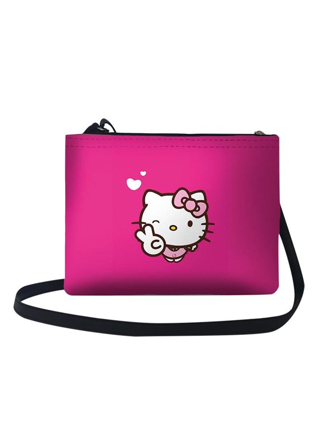 Túi Đeo Chéo Nữ In Hình Hello Kitty Hi! - TUCT014 (24 x 17 cm)