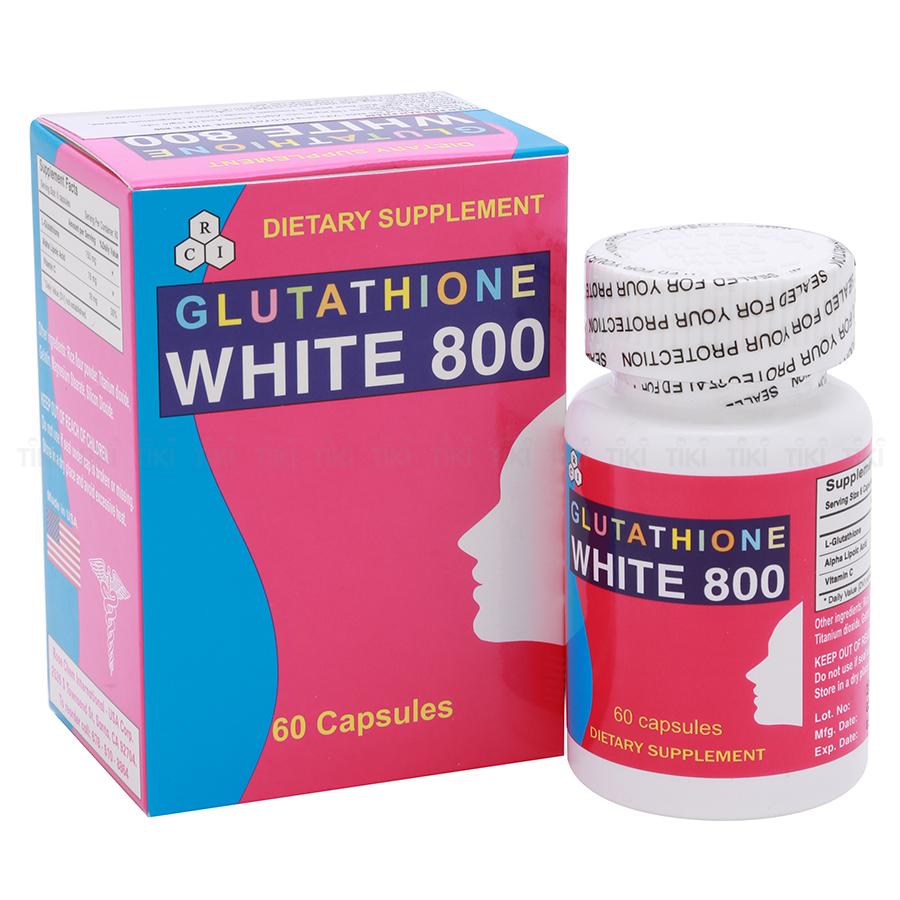 Thực Phẩm Chức Năng Glutathione White 800 (USA) Hỗ Trợ Giảm Sạm Da, Nám Da Và Giúp Sáng Da (60 Viên) - 1355596 , 854713005520 , 62_5939859 , 316000 , Thuc-Pham-Chuc-Nang-Glutathione-White-800-USA-Ho-Tro-Giam-Sam-Da-Nam-Da-Va-Giup-Sang-Da-60-Vien-62_5939859 , tiki.vn , Thực Phẩm Chức Năng Glutathione White 800 (USA) Hỗ Trợ Giảm Sạm Da, Nám Da Và Giúp S