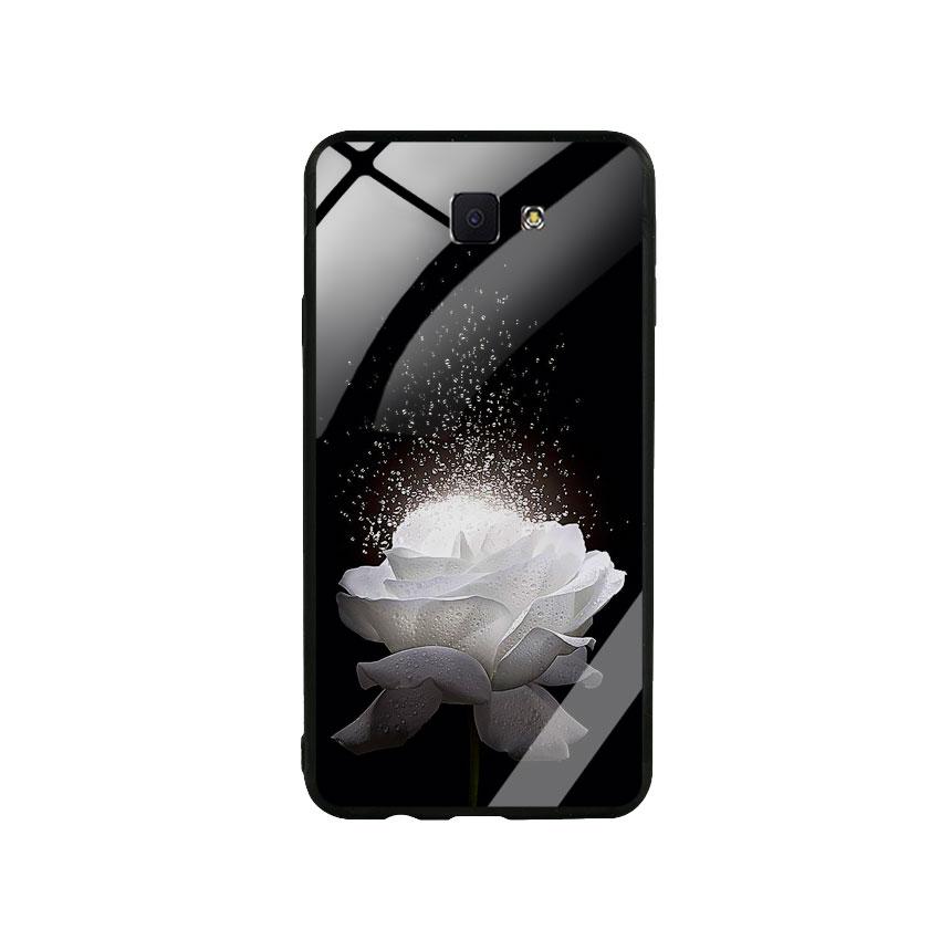 Ốp Lưng Kính Cường Lực cho điện thoại Samsung Galaxy J7 Prime -  0324 ROSE03