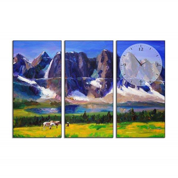 Tranh đồng hồ in Canvas Núi non trùng điệp - 3 mảnh - 7076217 , 6936796459934 , 62_10355659 , 717500 , Tranh-dong-ho-in-Canvas-Nui-non-trung-diep-3-manh-62_10355659 , tiki.vn , Tranh đồng hồ in Canvas Núi non trùng điệp - 3 mảnh