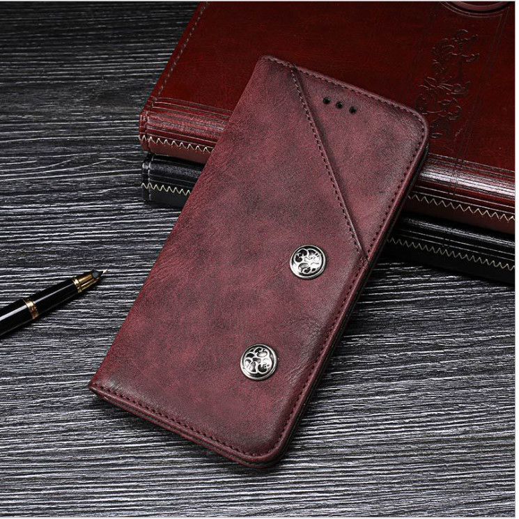 Bao Da Classic Cho Blackberry Key2 Màu nâu đỏ