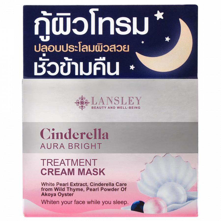 Mặt nạ kem dưỡng trắng hồng khỏe mạnh Lansley Aura Cinderella 50g
