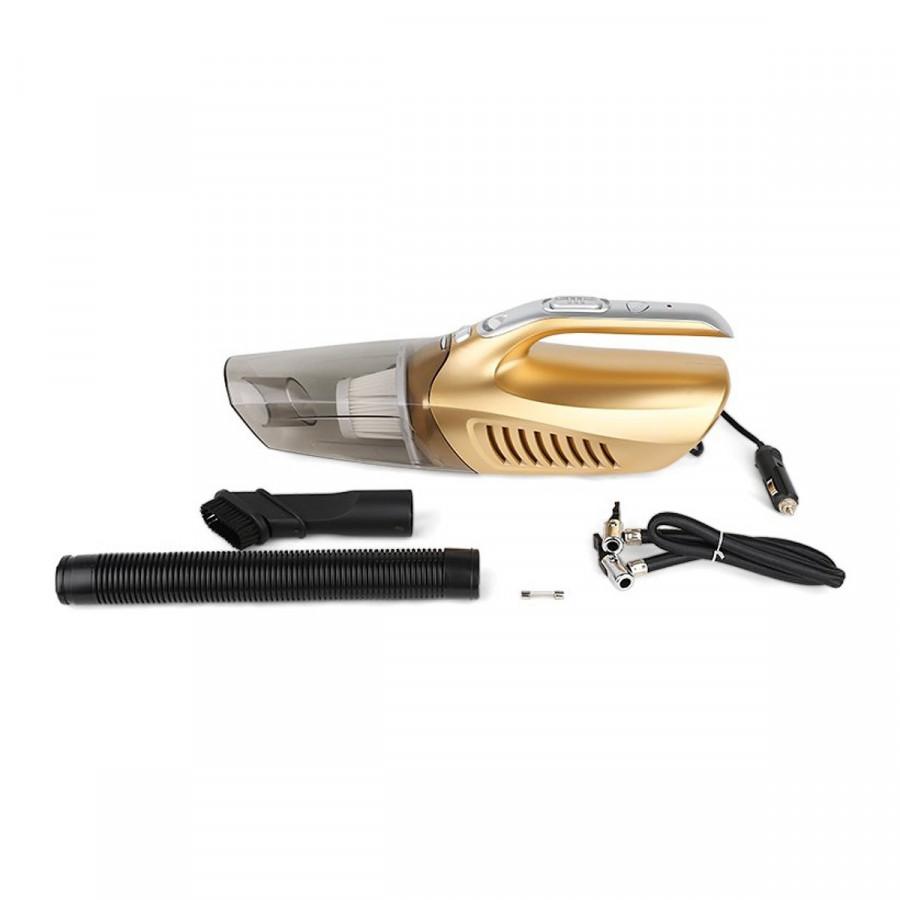 Dụng cụ Bơm lốp và Hút bụi chuyên dụng cho ô tô - có đèn siêu sáng - màu ngẫu nhiên