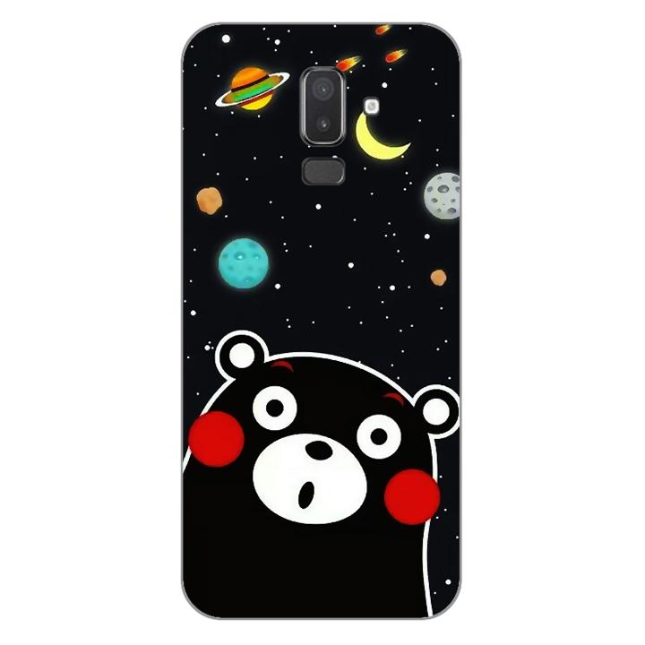 Ốp lưng dẻo Nettacase cho điện thoại Samsung Galaxy J8_0345 BEAR03 - Hàng Chính Hãng
