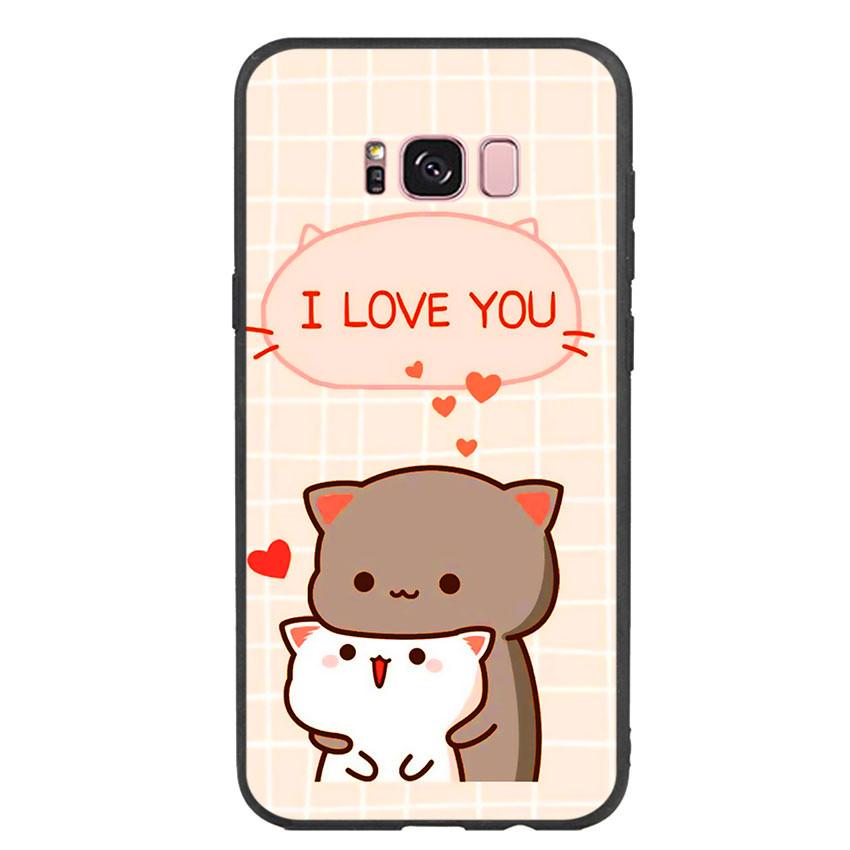 Ốp lưng viền TPU cho điện thoại Samsung Galaxy S8 Plus - I Love U