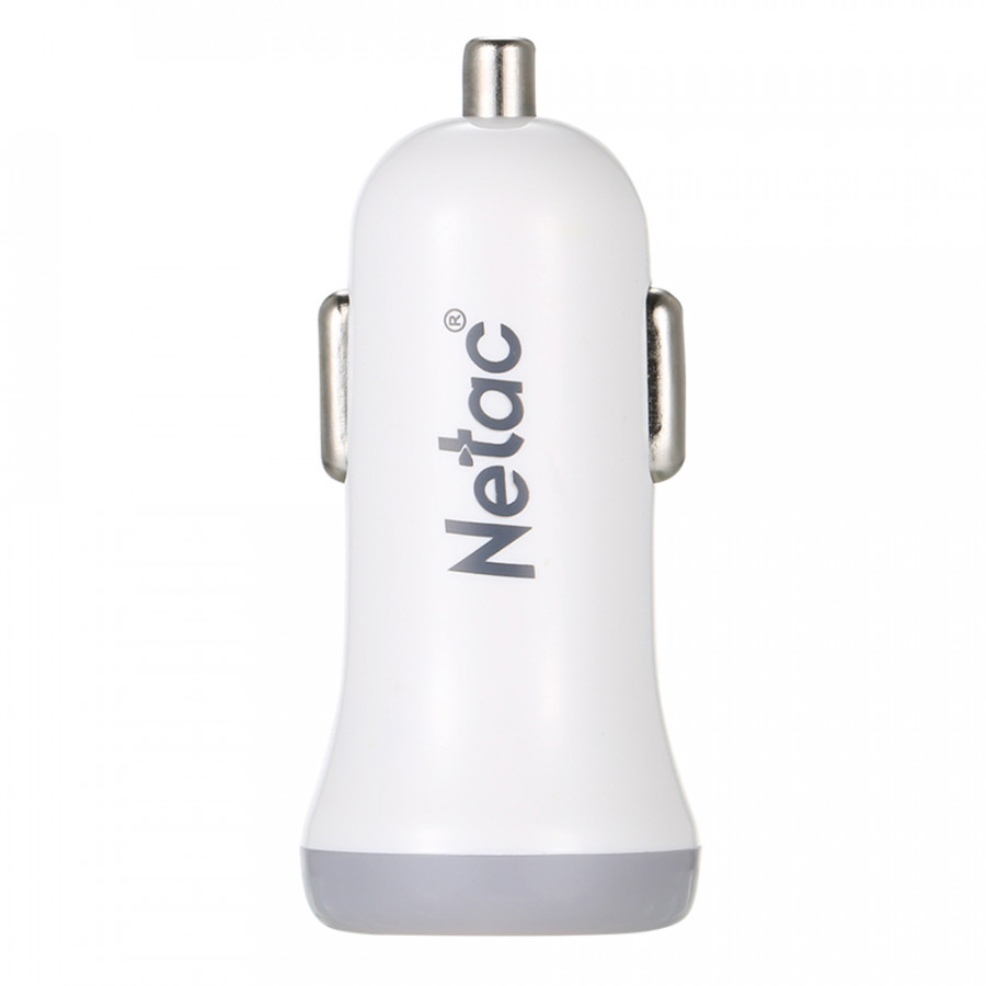 NETAC C-U2 Rapid Car Charger Mini Flush Fit Dual Port 2.1A Output Smart Identification for iPhone Android Tablets And More