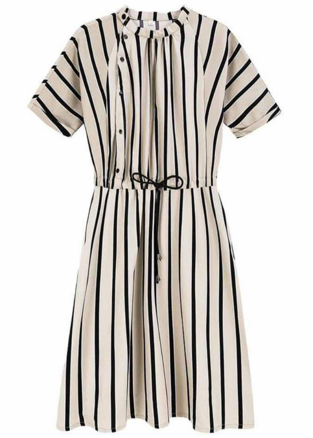 Đầm Nữ Sọc DRESS396 - Trắng