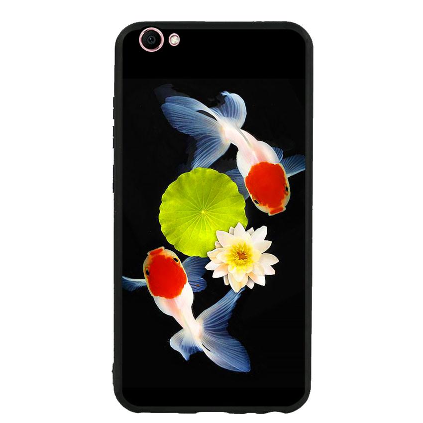 Ốp lưng nhựa cứng viền dẻo TPU cho điện thoại Vivo V5s - Cá Koi 04