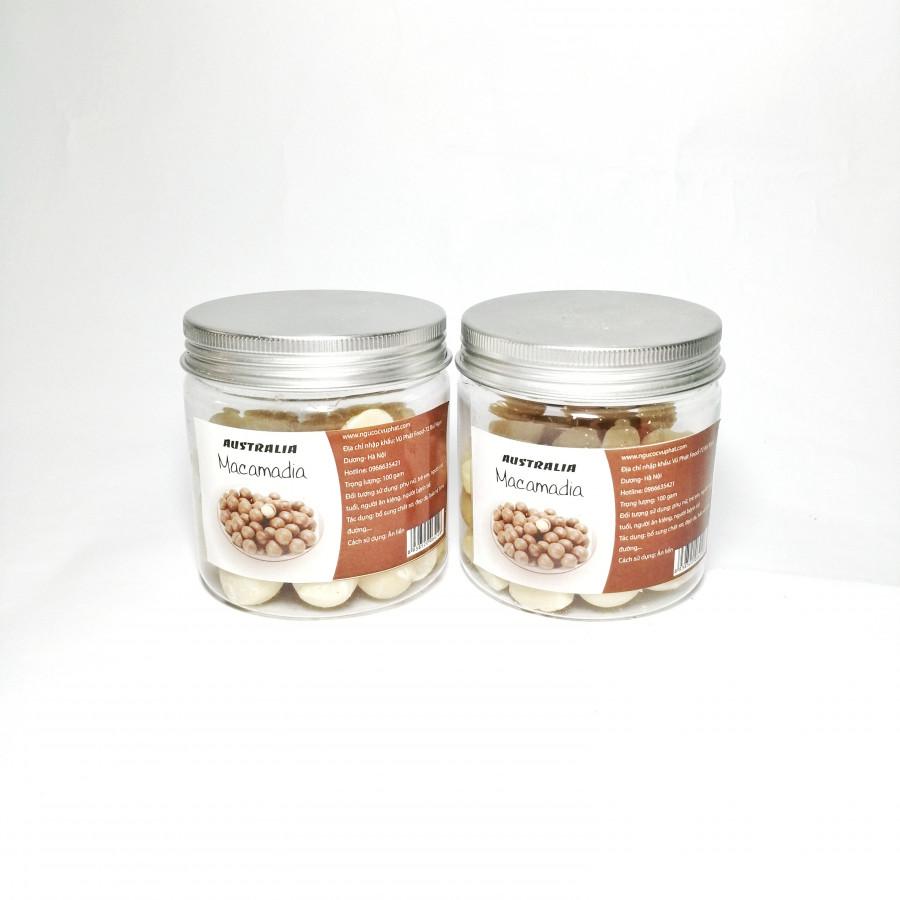 Combo 2 hộp nhân Hạt Macadamia Thượng hạng -200g/hộp