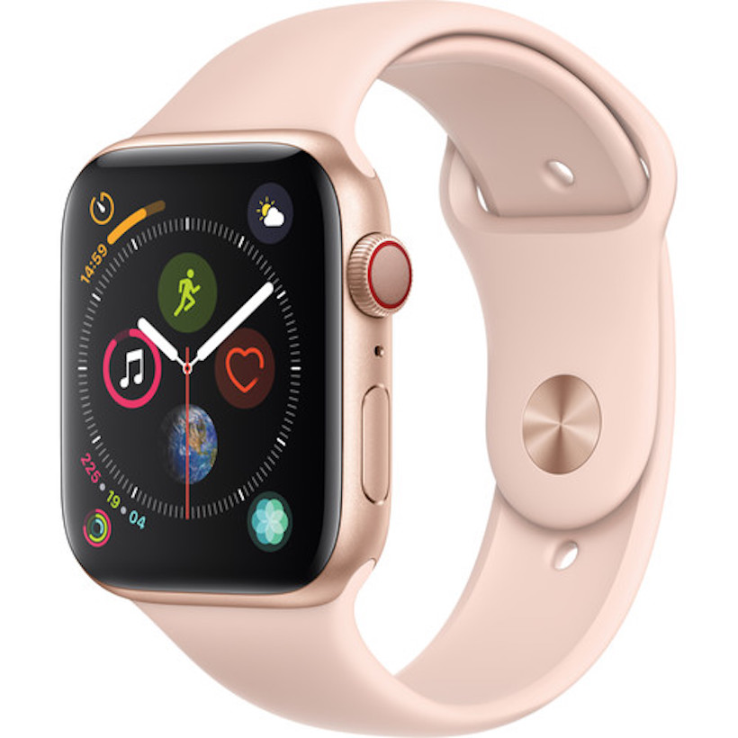 Đồng Hồ Thông Minh Apple Watch Series 4 GPS + Cellular, 44mm Aluminum Case with Black Sport Band - 5399815 , 2306336597176 , 62_15984011 , 14990000 , Dong-Ho-Thong-Minh-Apple-Watch-Series-4-GPS-Cellular-44mm-Aluminum-Case-with-Black-Sport-Band-62_15984011 , tiki.vn , Đồng Hồ Thông Minh Apple Watch Series 4 GPS + Cellular, 44mm Aluminum Case with B