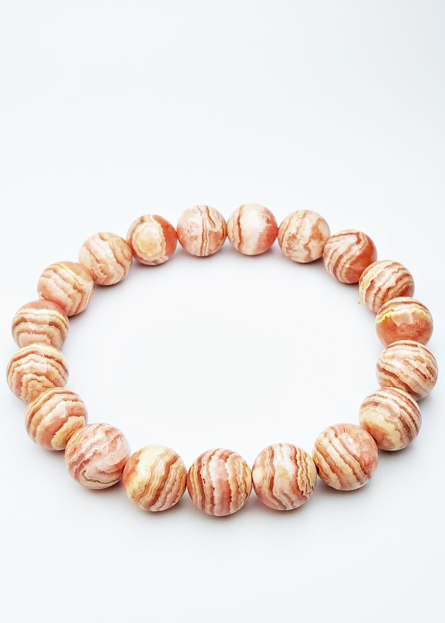 Vòng Tay Đá Đào Hoa Tự Nhiên 10mm - Natural Rhodochrosite Bracelet