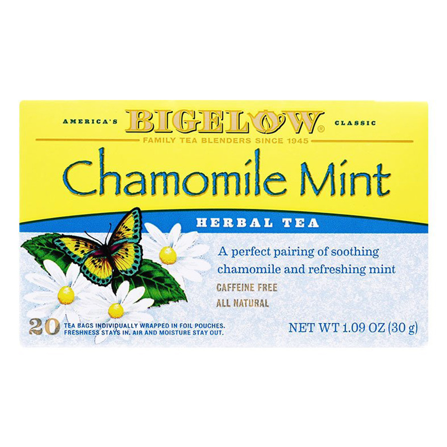 Hộp 20 Túi Trà Thảo Mộc Bigelow Chamomile Mint Herbal Tea (30g) - 915083 , 72310818606 , 62_1751459 , 126000 , Hop-20-Tui-Tra-Thao-Moc-Bigelow-Chamomile-Mint-Herbal-Tea-30g-62_1751459 , tiki.vn , Hộp 20 Túi Trà Thảo Mộc Bigelow Chamomile Mint Herbal Tea (30g)