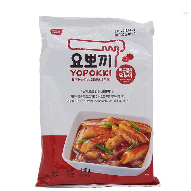 Bánh gạo Hàn Quốc YOPOKKI vị Cay ngọt (gói 140g)