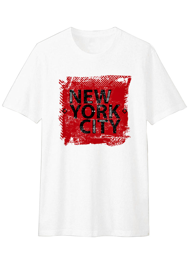 Áo Thun T-shirt Unisex Dotilo New York City HM003 - Trắng