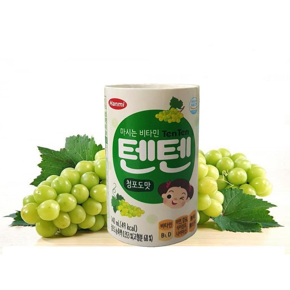 Bộ combo 6 hộp nước vitamin tăng chiều cao trẻ em TenTen vị nho (140ml)