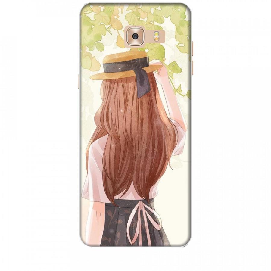 Ốp lưng dành cho điện thoại  SAMSUNG GALAXY C9 PRO Phía Sau Một Cô Gái