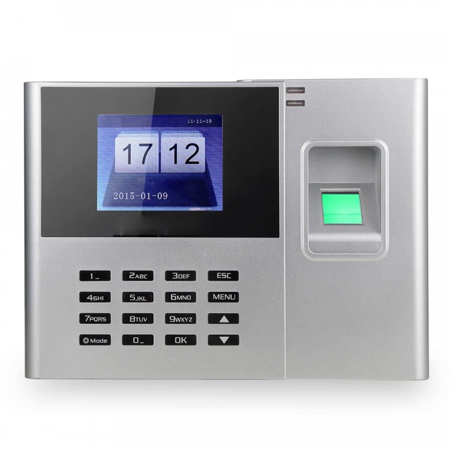 Biometric Fingerprint Password Attendance Machine Employee Checking-in Recorder 2.8 inch TFT LCD Screen DC 5V Time