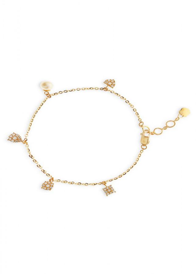 Lắc Tay Nữ Vàng 14K - LLF01 Huy Thanh Jewelry - 0,539 chỉ