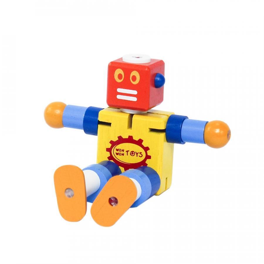 Đồ chơi robot bằng gỗ - cậu bé người máy winwintoys - 64052