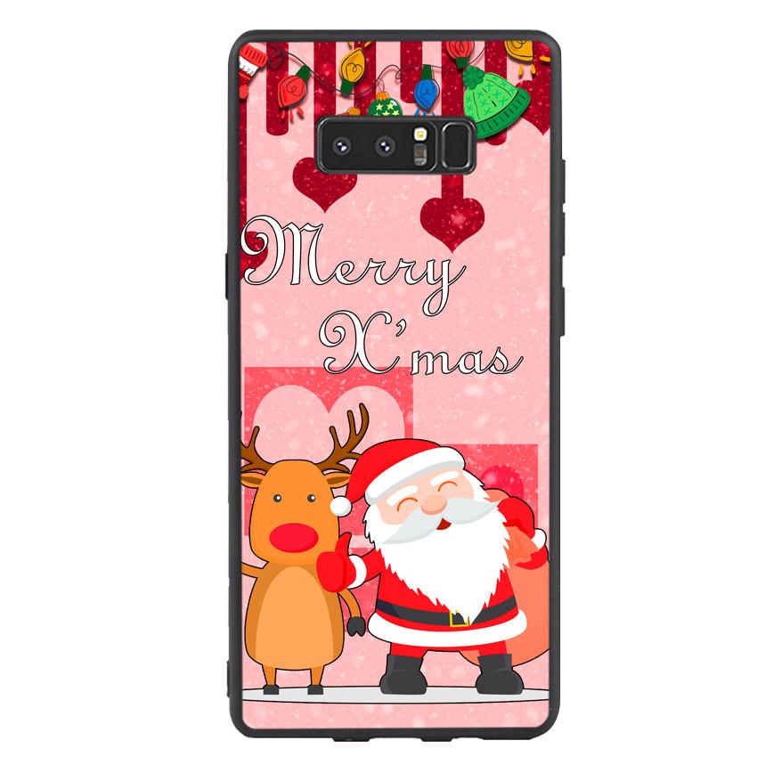Ốp lưng viền TPU cho điện thoại Samsung Galaxy Note 8 - Xmas 04
