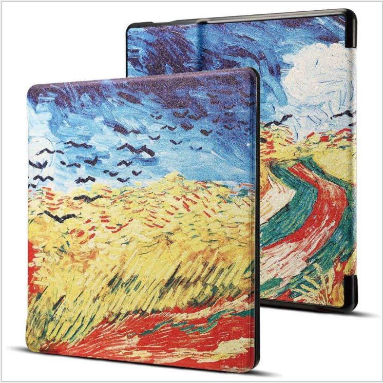 Bao Da cho Máy Đọc Sách Kindle Oasis (9th) - Hình cánh đồng