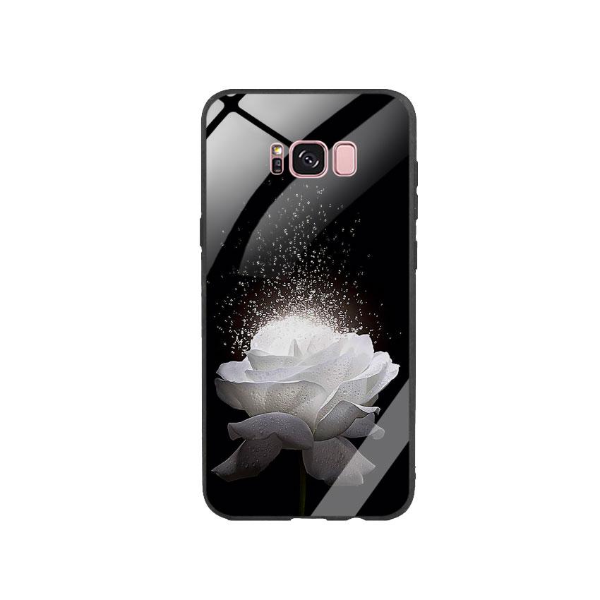 Ốp Lưng Kính Cường Lực cho điện thoại Samsung Galaxy S8 Plus -  0324 ROSE03