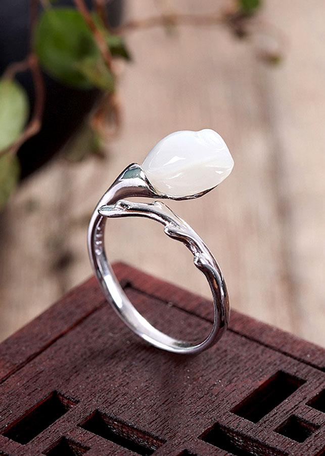 Nhẫn Hoa Ngọc Lan Bạc Thái