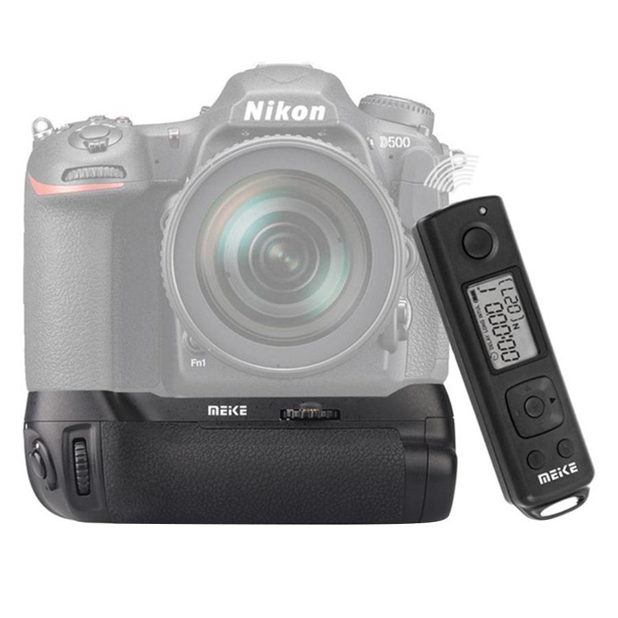 Grip Meike Dành Cho Nikon D500 LCD Timelapse Remote - Hàng Nhập Khẩu