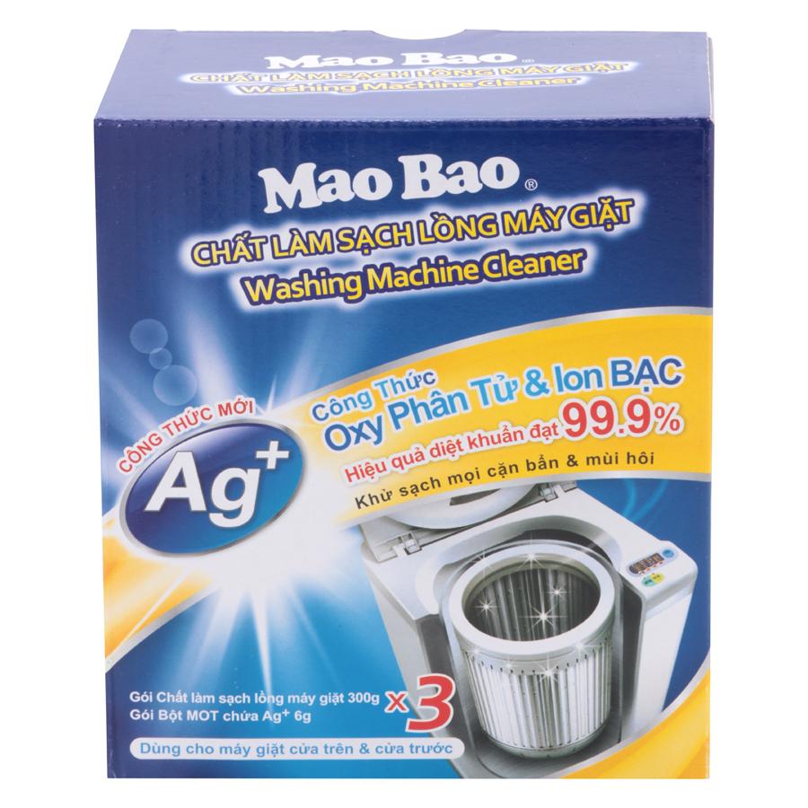 Hộp 3 Gói Hợp Chất Làm Sạch Lồng Giặt Mao Bao Bản Nâng Cấp X3 (300g) - 7015024053317,62_4485859,147000,tiki.vn,Hop-3-Goi-Hop-Chat-Lam-Sach-Long-Giat-Mao-Bao-Ban-Nang-Cap-X3-300g-62_4485859,Hộp 3 Gói Hợp Chất Làm Sạch Lồng Giặt Mao Bao Bản Nâng Cấp X3 (300g)