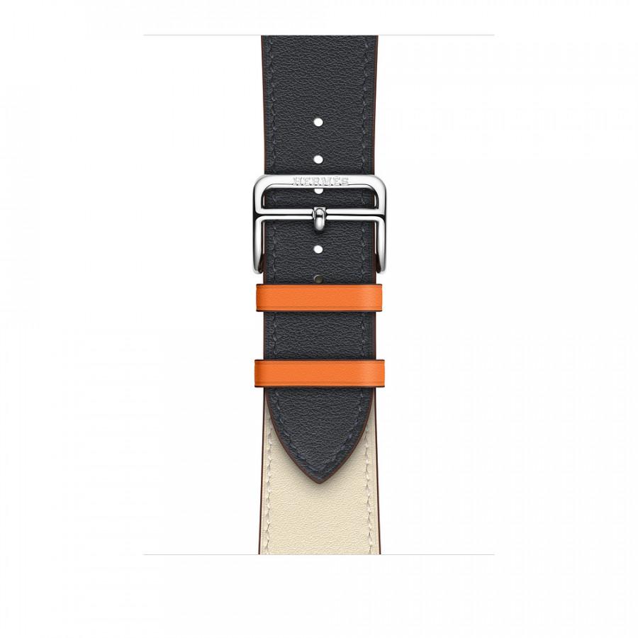 Dây đeo thay thế Apple Watch da 2 màu cao cấp _ Trắng Xanh _ 38mm
