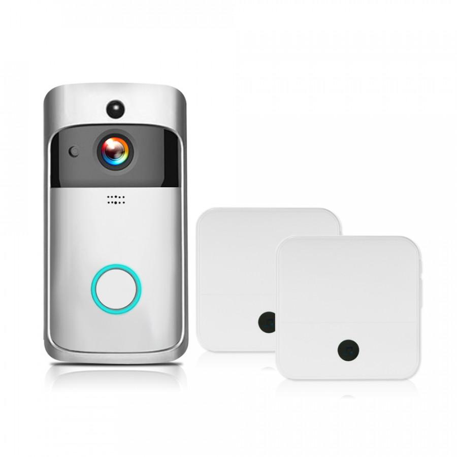 WiFi Smart Wireless Security DoorBell Smart HD 1080P Visual Intercom Recording Video Door Phone Remote Home Monitoring - 2372635 , 8327636940947 , 62_15562887 , 1514000 , WiFi-Smart-Wireless-Security-DoorBell-Smart-HD-1080P-Visual-Intercom-Recording-Video-Door-Phone-Remote-Home-Monitoring-62_15562887 , tiki.vn , WiFi Smart Wireless Security DoorBell Smart HD 1080P Visu