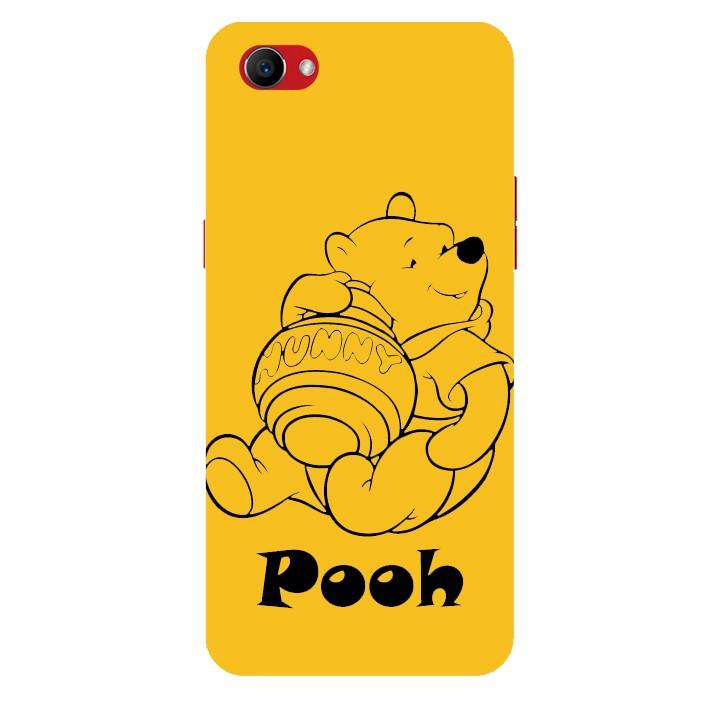 Ốp lưng nhựa cứng nhám dành cho Oppo F7 Youth in hình Pooh