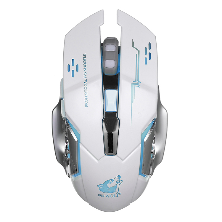 Free Wolf Wireless Gaming Mouse 2400Dpi 7 Breathing Lights Adjustable Dpi Mice With 2.4G And 10M / 33Ft Long Transmission - 2362275 , 3296679324616 , 62_15422630 , 347000 , Free-Wolf-Wireless-Gaming-Mouse-2400Dpi-7-Breathing-Lights-Adjustable-Dpi-Mice-With-2.4G-And-10M--33Ft-Long-Transmission-62_15422630 , tiki.vn , Free Wolf Wireless Gaming Mouse 2400Dpi 7 Breathing Ligh