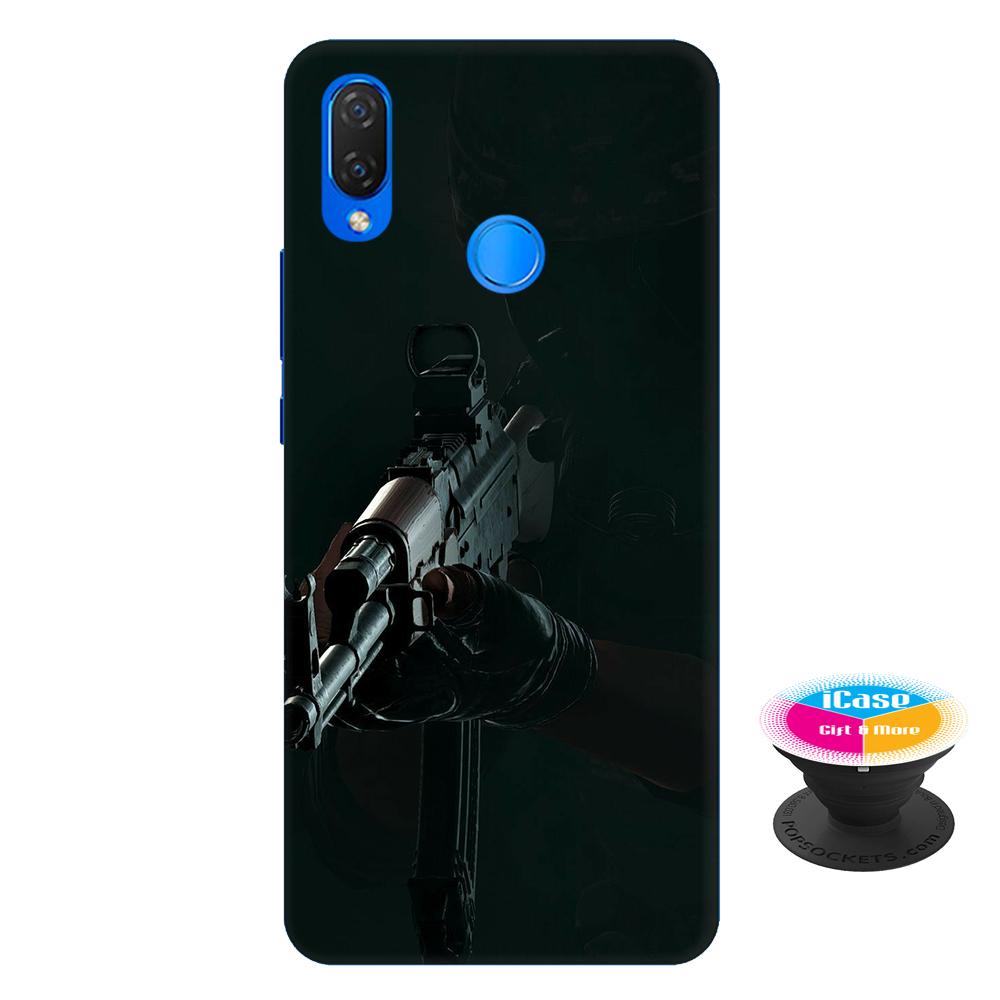 Ốp lưng nhựa dẻo dành cho Huawei Nova 3i in hình PUPG - Tặng Popsocket in logo iCase - Hàng Chính Hãng