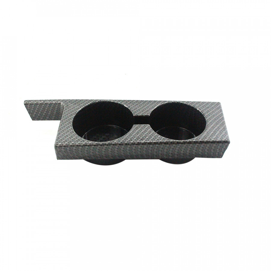 Car Cup Holder Double Cup Holder Front Console Insert Interior Drinking Cup Bracket Carbon Fiber Style for BMW 5 Series