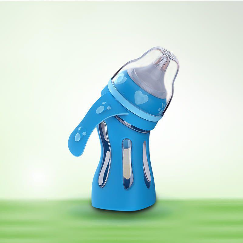 Bình sữa thủy tinh, cổ cong đa năng Tiny Baby Nhật Bản 180ml