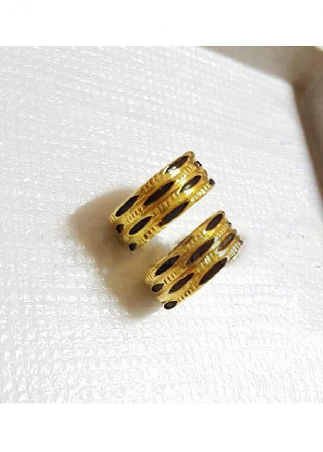 Nhẫn Đôi 3 Lông Voi Vàng 18k Theo Phong Thủy Cỡ Trung Bình