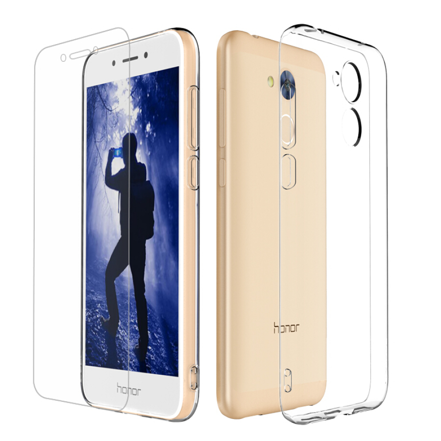 Combo Ốp Dẻo Trong Suốt + Miếng Dán Cường Lực ESCML Cho Huawei Honor 6A