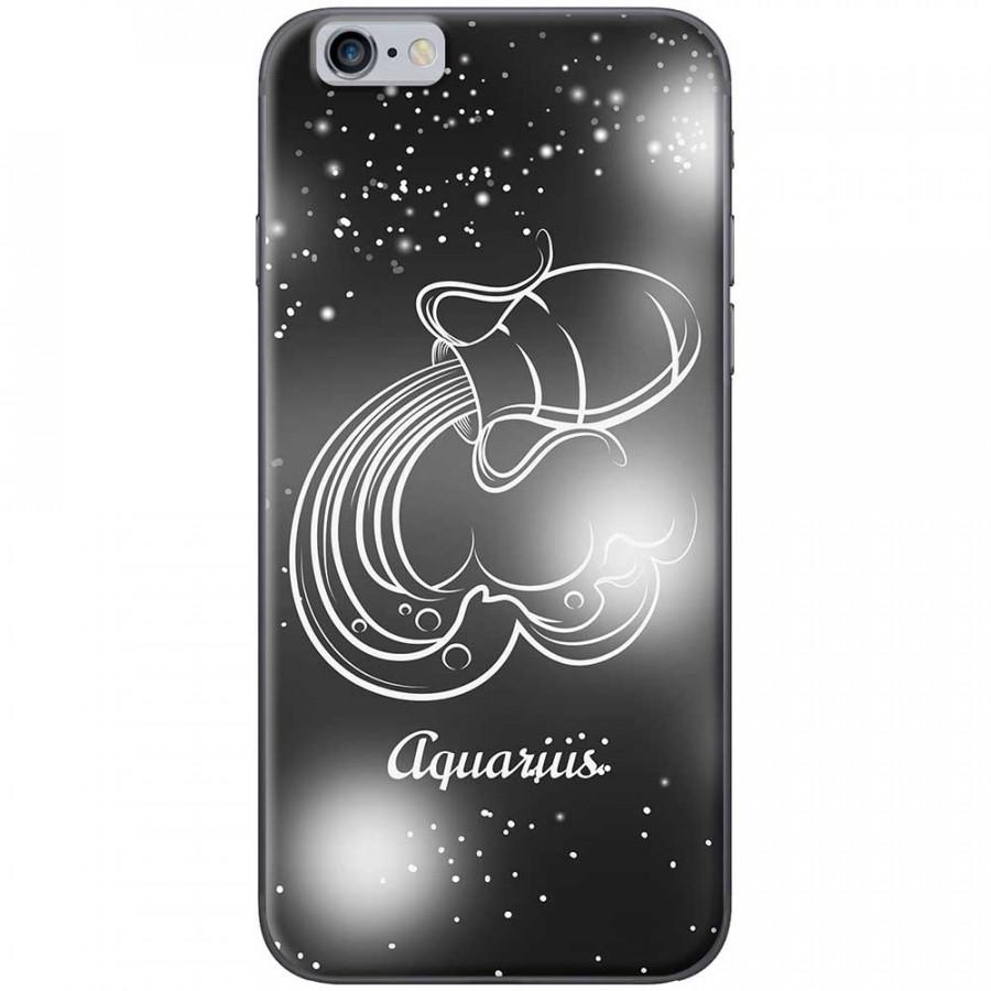 Ốp lưng  dành cho iPhone 6 Plus, iPhone 6s Plus mẫu Cung hoàng đạo Aquarius (đen)