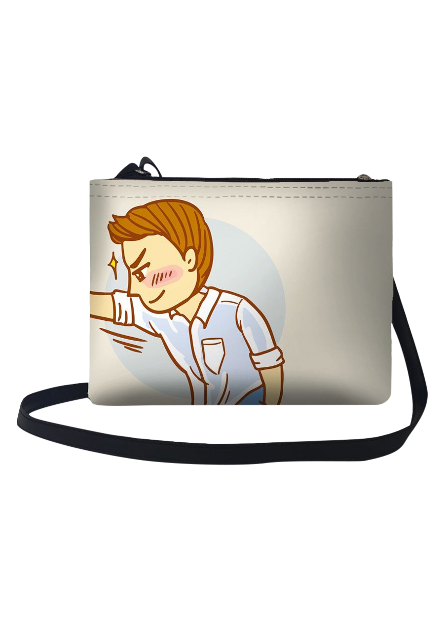 Túi Đeo Chéo Nữ In Hình Đánh Yêu - TUCP063