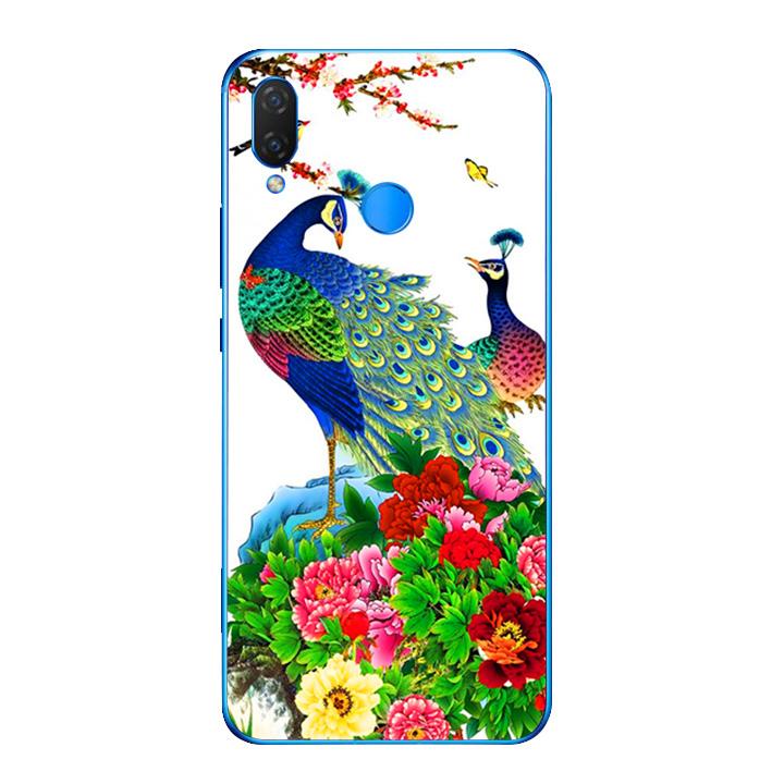 Ốp lưng dẻo cho điện thoại Huawei Y9 2019 - Chim Công