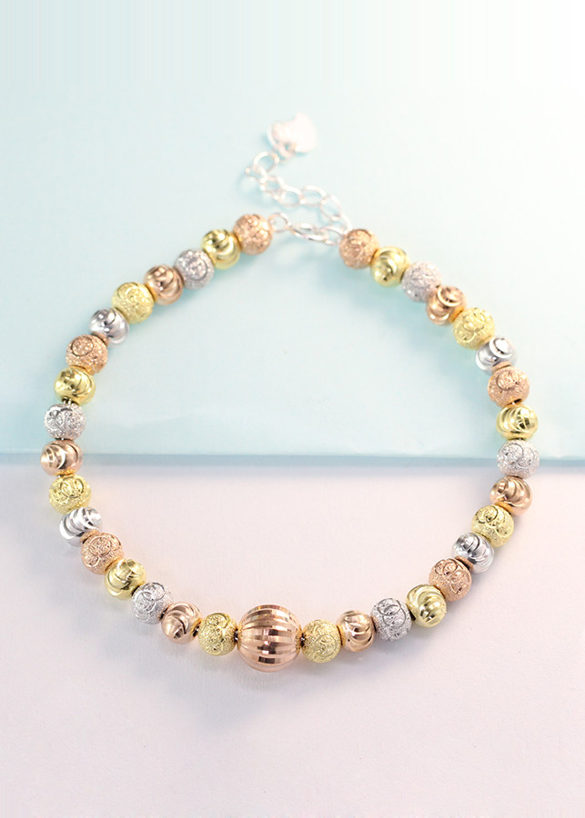 Lắc tay bạc nữ vòng bi bạc xi vàng 3 màu LTN0111 - 1752618 , 6713735735447 , 62_12312388 , 500000 , Lac-tay-bac-nu-vong-bi-bac-xi-vang-3-mau-LTN0111-62_12312388 , tiki.vn , Lắc tay bạc nữ vòng bi bạc xi vàng 3 màu LTN0111