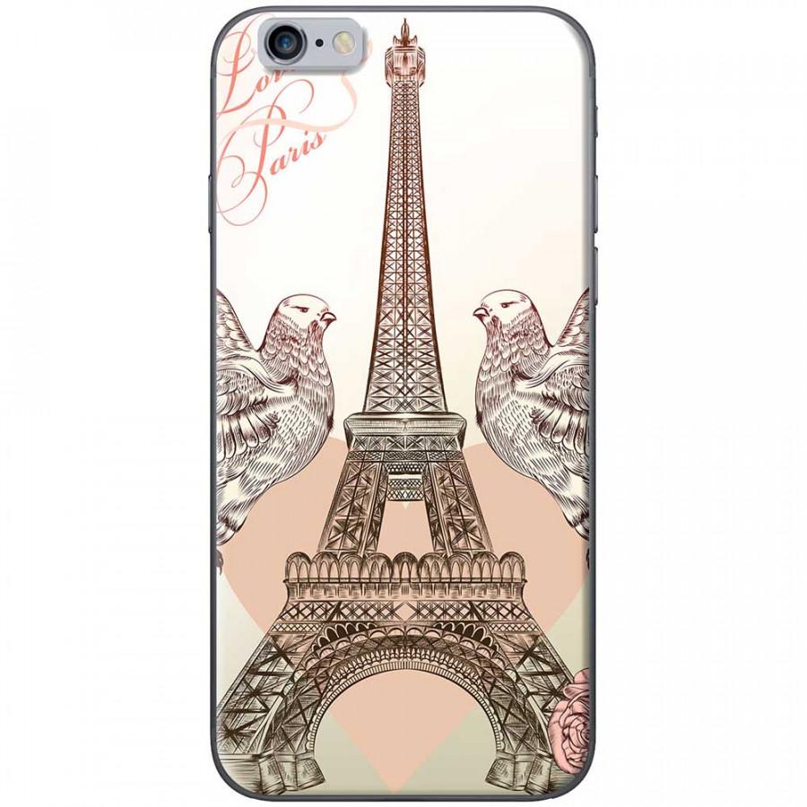 Ốp lưng dành cho iPhone 6 Plus, iPhone 6S Plus mẫu Tháp Effiel bồ câu