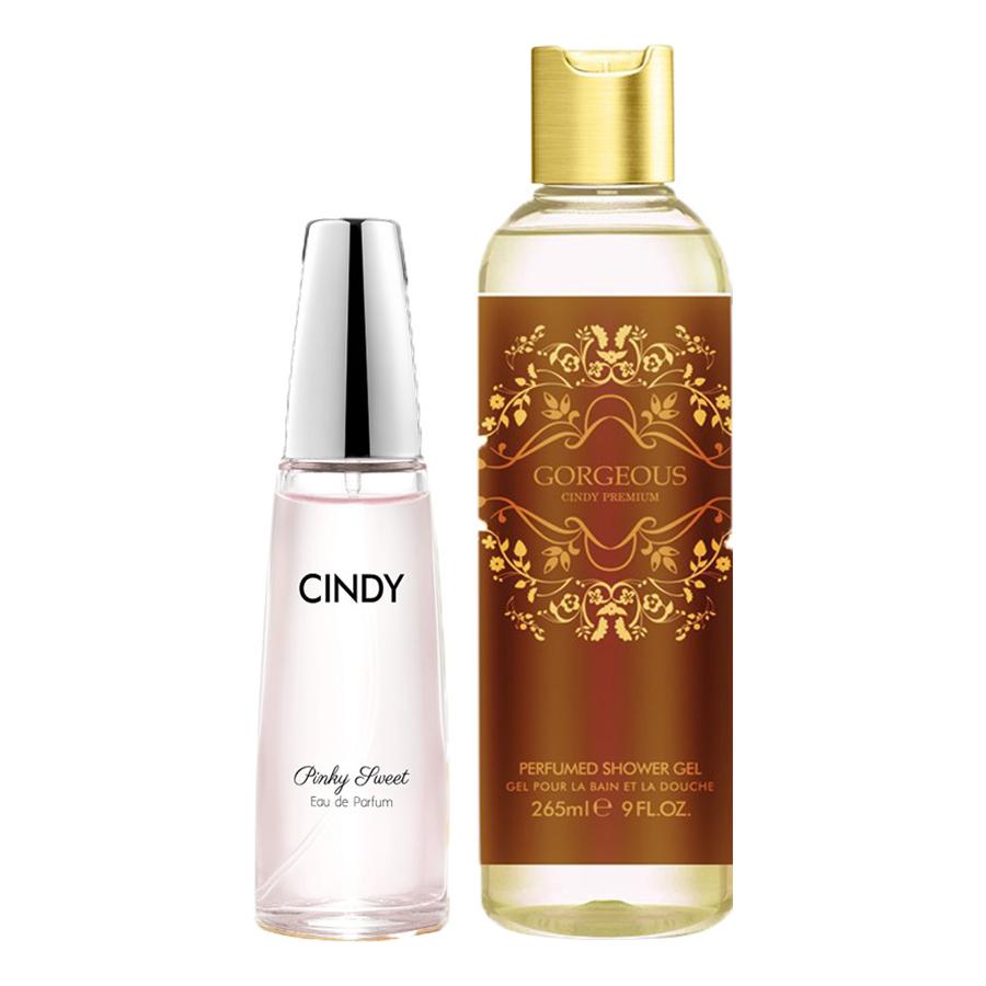 Bộ nước hoa Cindy Pinky Sweet 50ml và Sữa tắm Cindy Premium Gorgeous 265ml