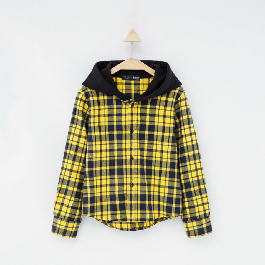 Gxg kids boy shirt long sleeve plaid shirt tide fashion children 2018 autumn new children