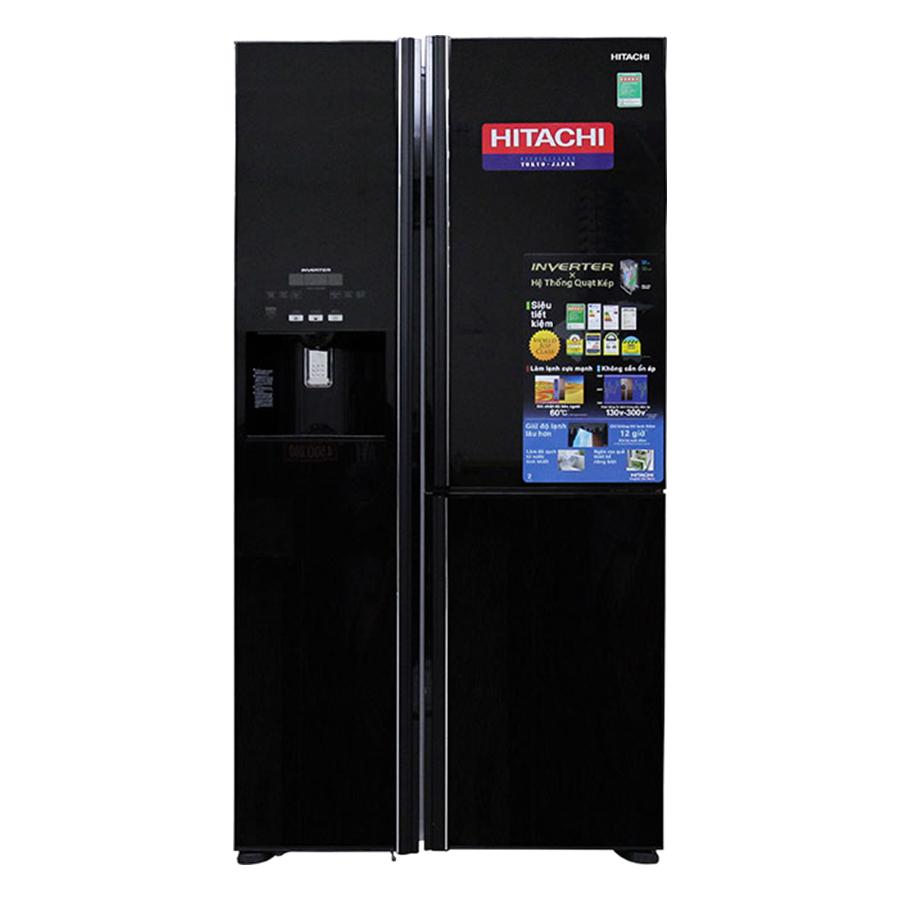 Tủ Lạnh Side By Side Inverter Hitachi R-M700GPGV2-GBK (584L) - Đen - Hàng chính hãng - 20081255 , 3995966724114 , 62_23026992 , 58500000 , Tu-Lanh-Side-By-Side-Inverter-Hitachi-R-M700GPGV2-GBK-584L-Den-Hang-chinh-hang-62_23026992 , tiki.vn , Tủ Lạnh Side By Side Inverter Hitachi R-M700GPGV2-GBK (584L) - Đen - Hàng chính hãng