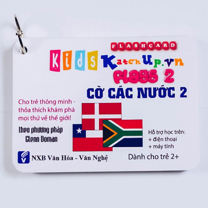 Bộ KatchUp Flashcard cho bé Tiếng Anh – Cờ các nước 1 – High Quality