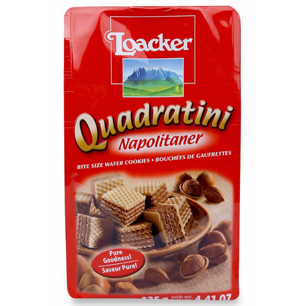 Bánh Xốp Loacker Quadratini Napolitaner (125g)