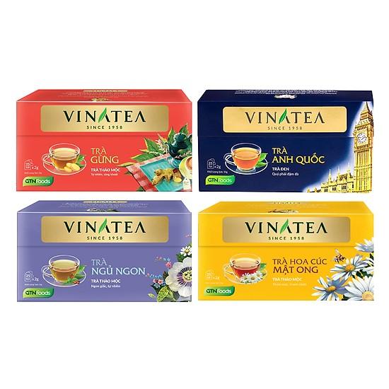 Combo 4 hộp Trà Túi Lọc Vinatea: trà  Hoa Cúc Mật Ong + trà Gừng +  trà ngủ ngon + trà đen hảo hạng - 18695735 , 7465985177032 , 62_24938807 , 240000 , Combo-4-hop-Tra-Tui-Loc-Vinatea-tra-Hoa-Cuc-Mat-Ong-tra-Gung-tra-ngu-ngon-tra-den-hao-hang-62_24938807 , tiki.vn , Combo 4 hộp Trà Túi Lọc Vinatea: trà  Hoa Cúc Mật Ong + trà Gừng +  trà ngủ ngon + tr